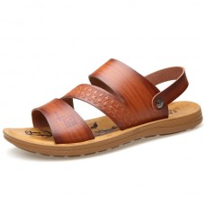Men Soft Sole Two Way Wear Sandals Beach Shoes