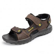 Men Soft Genuine Leather Seaside Beach Sandals